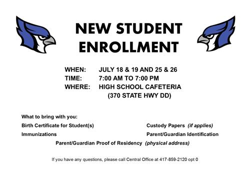 Dates and Documents for Enrollment